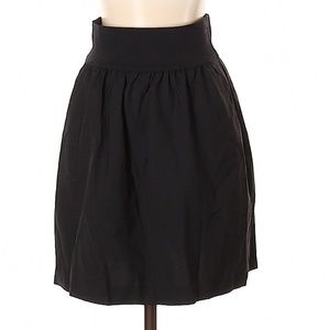 Theory Black Wool A-Line Skirt
